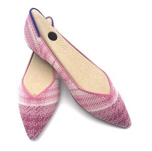 Rothy's Pink Plaid Limited Edition Points Flats